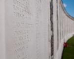 Memorial wall at Tyne Cot