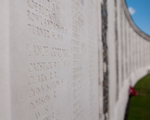 Memorial wall at Tyne Cot