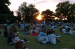 Sun sets over Brockwell Park